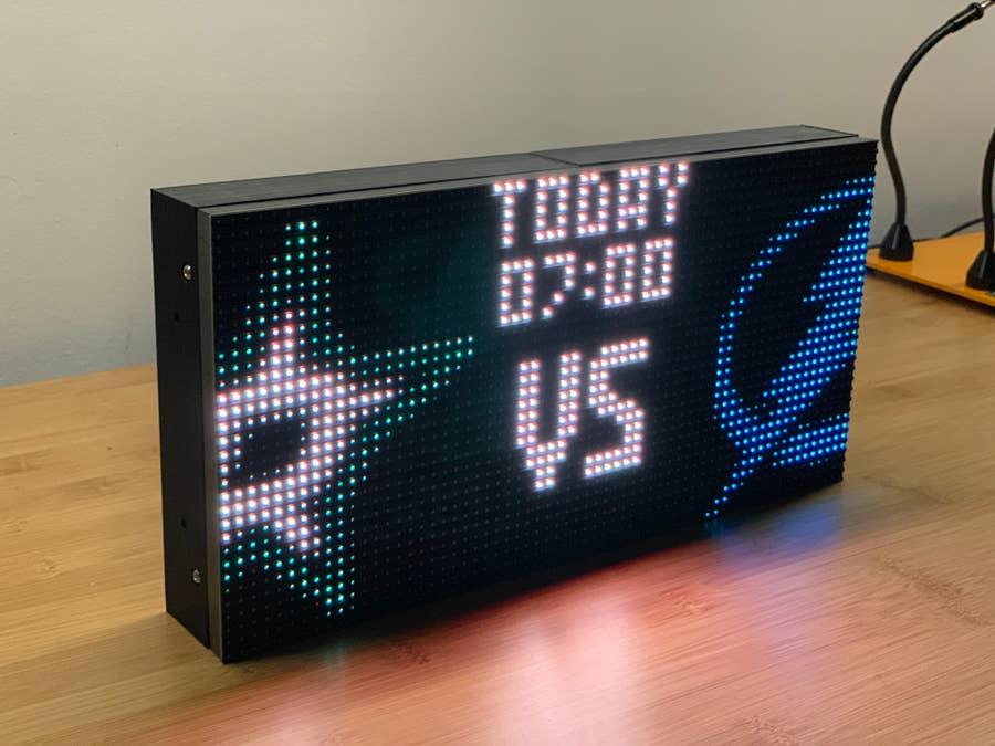 Raspberry Pi NHL Display Pre-Game Info
