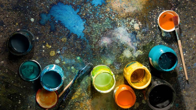 Homemade paints.