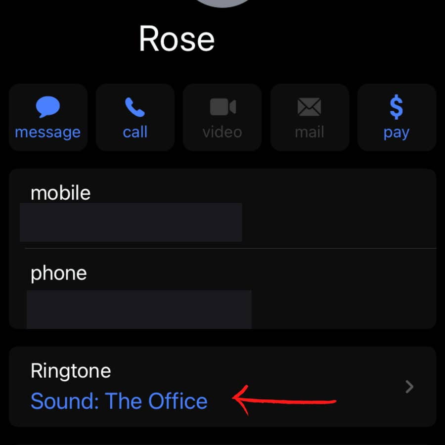 Check the Ringtone