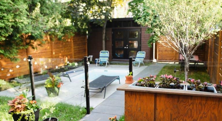 Small Beautiful Backyard