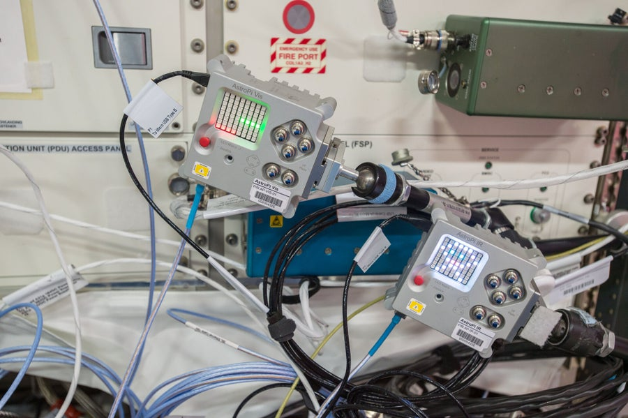 Astro Pi on the ISS