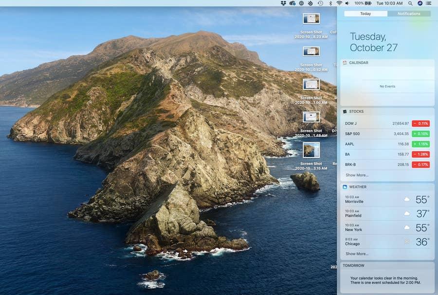 Notification Center on MacOS