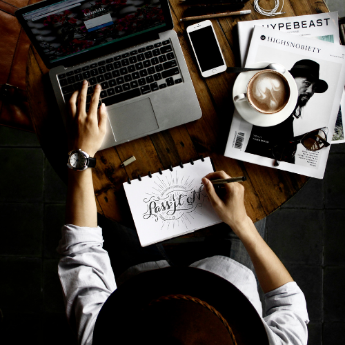 Tumblr on a laptop