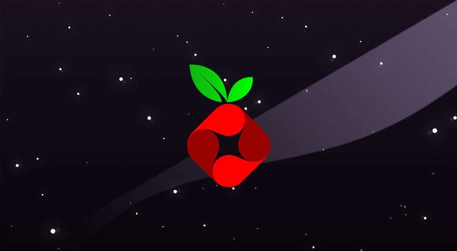 Pi-Hole logo on a space background
