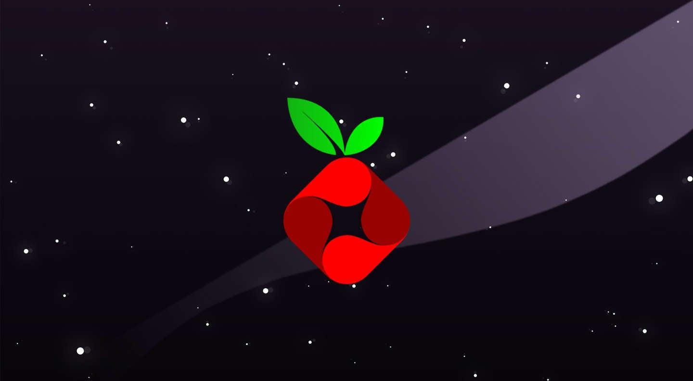 Pi-Hole logo on a space background