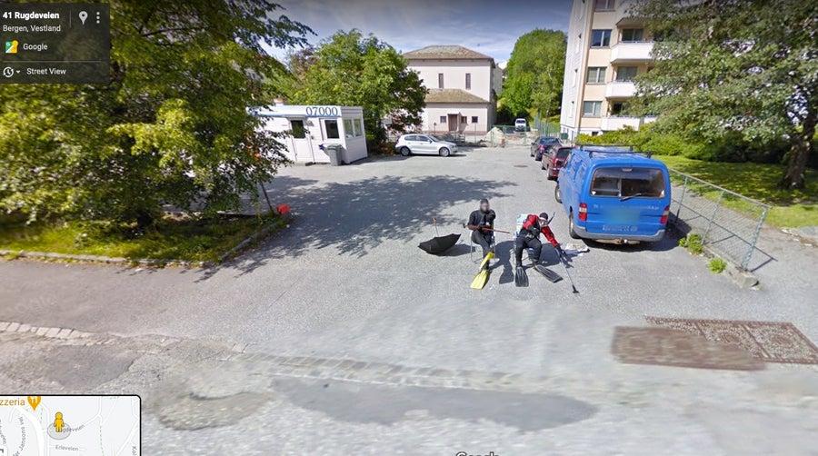 scuba guys google street view