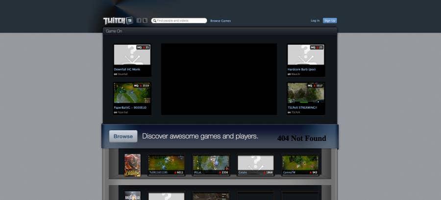 Twitch original homepage