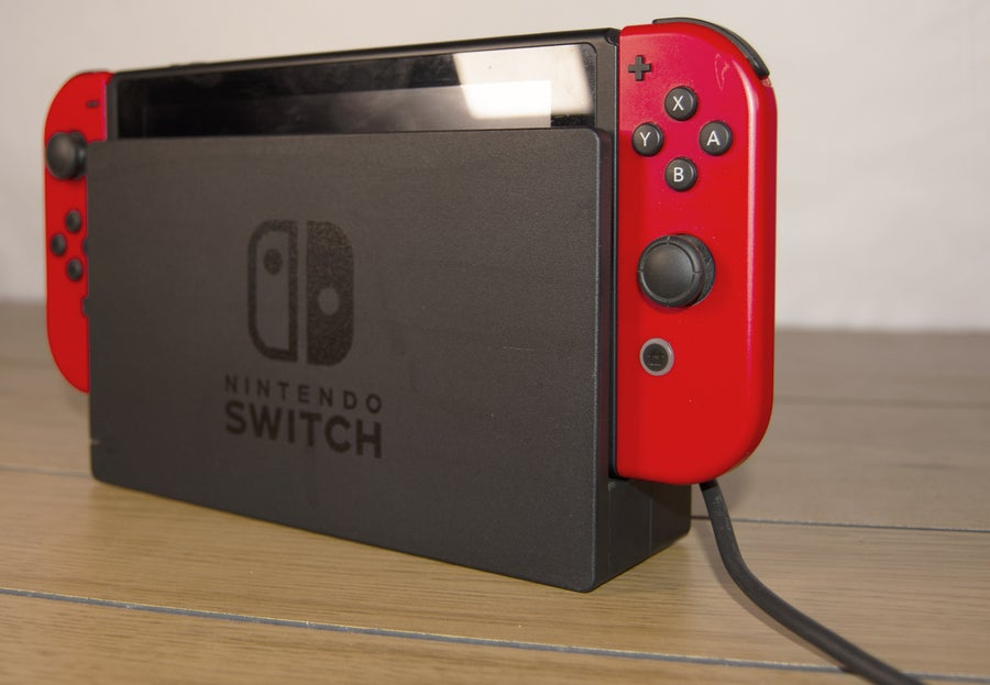 Nintendo Switch with dock