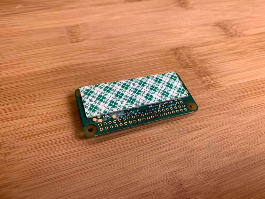 A Raspberry Pi Zero with foam tape
