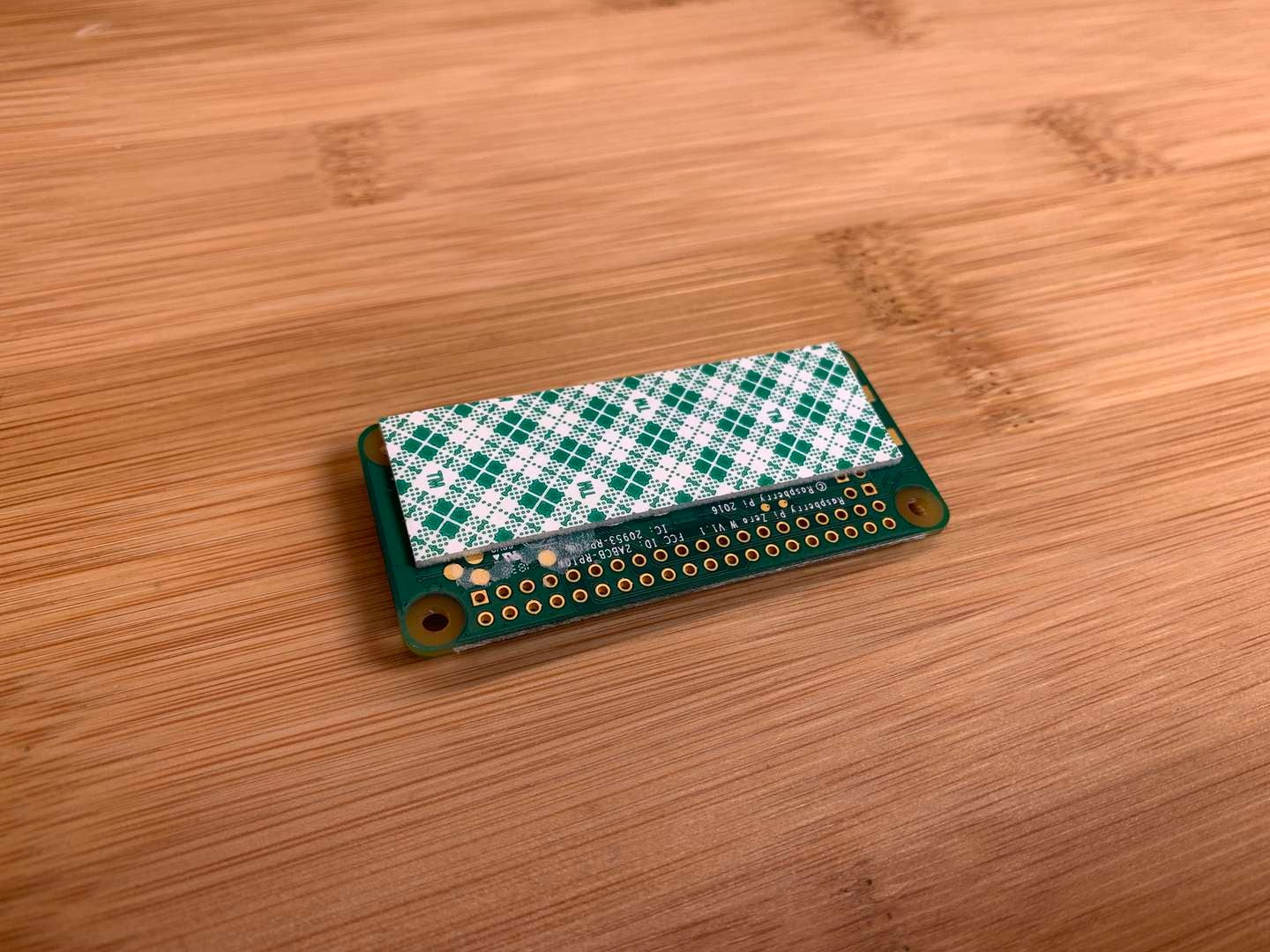 A Raspberry Pi Zero with foam tape