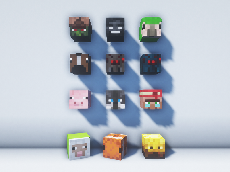 just mob heads mod minecraft forge