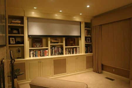 hidden automated projector screen