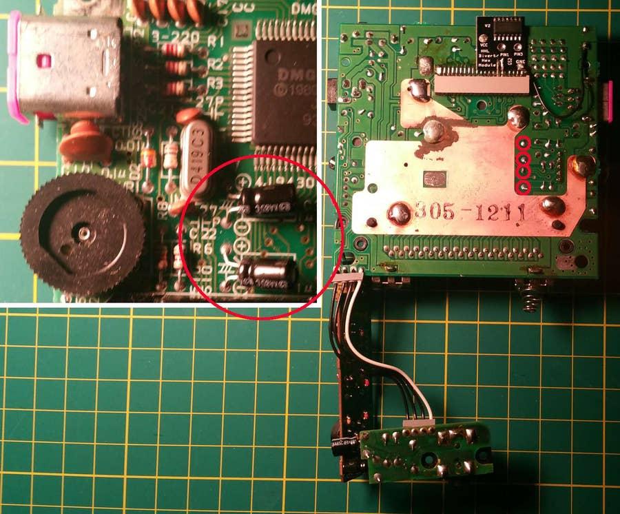 Remove the capacitors
