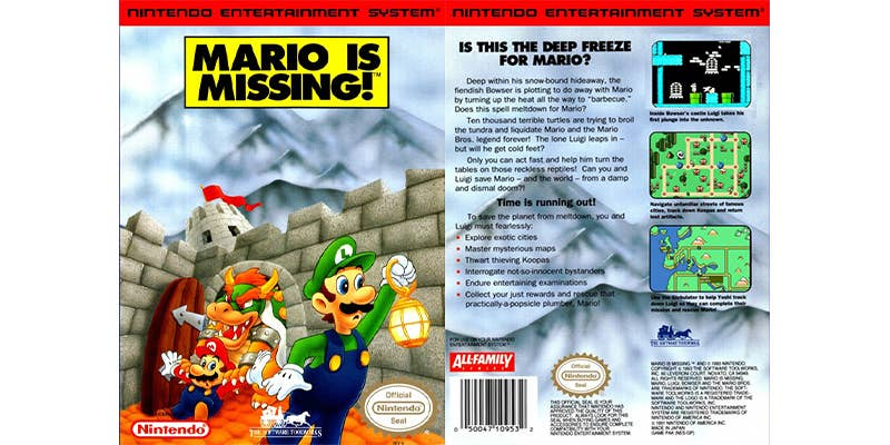 mario is missing os nes worst video game