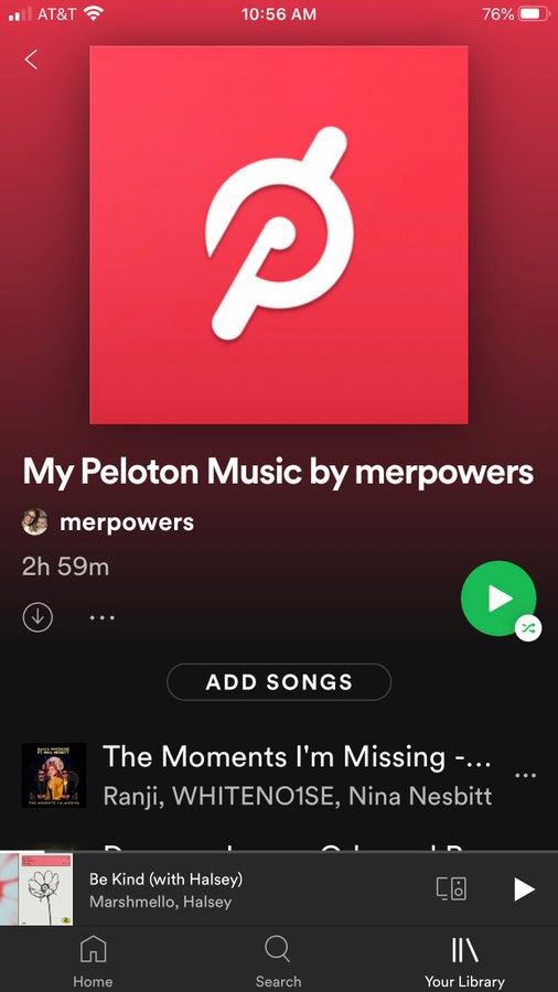 Connect Peloton Music playlist to your Spotify or Apple Music account