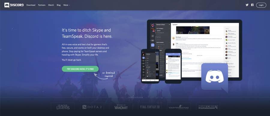 Discord original homepage
