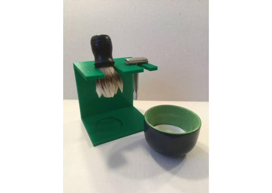 3D printed shaving stand