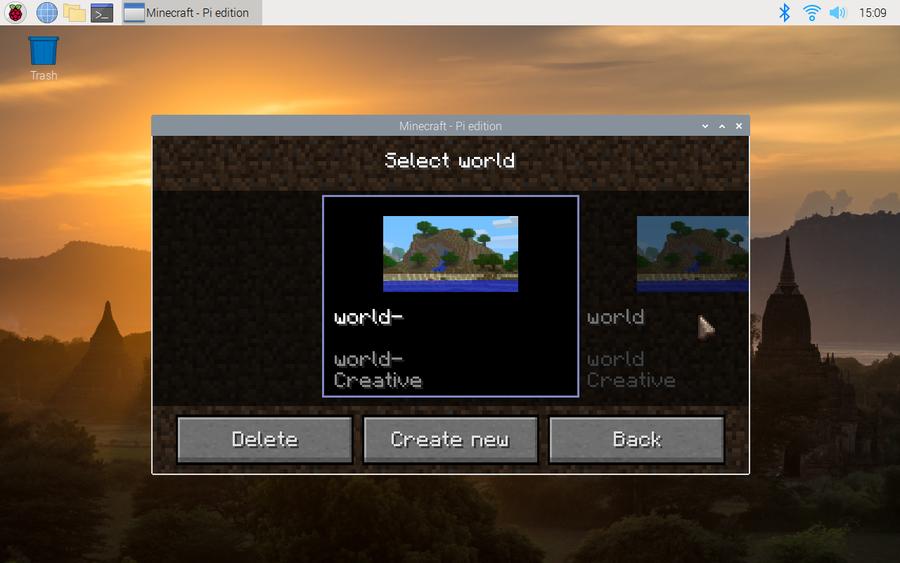 Save Minecraft Pi Edition Game