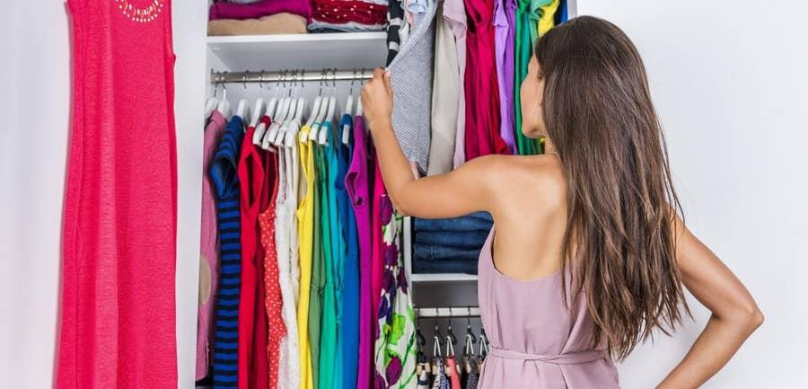 Girl and Closet