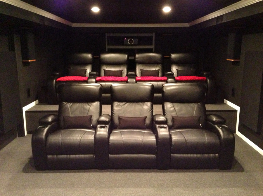 Dolby Atmos home theater with rumble seats