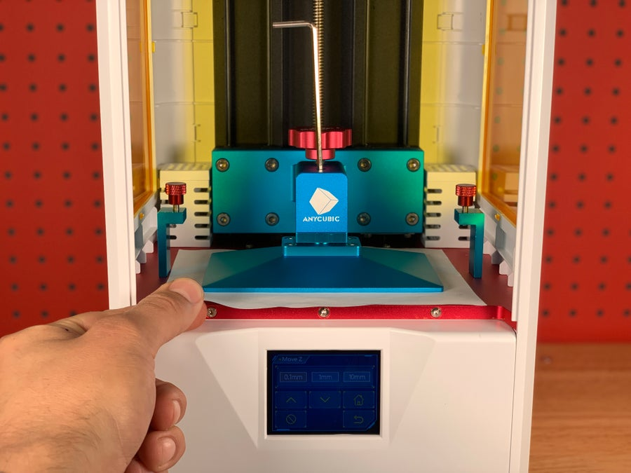 Leveling the Anycubic Photon S using a sheet of paper