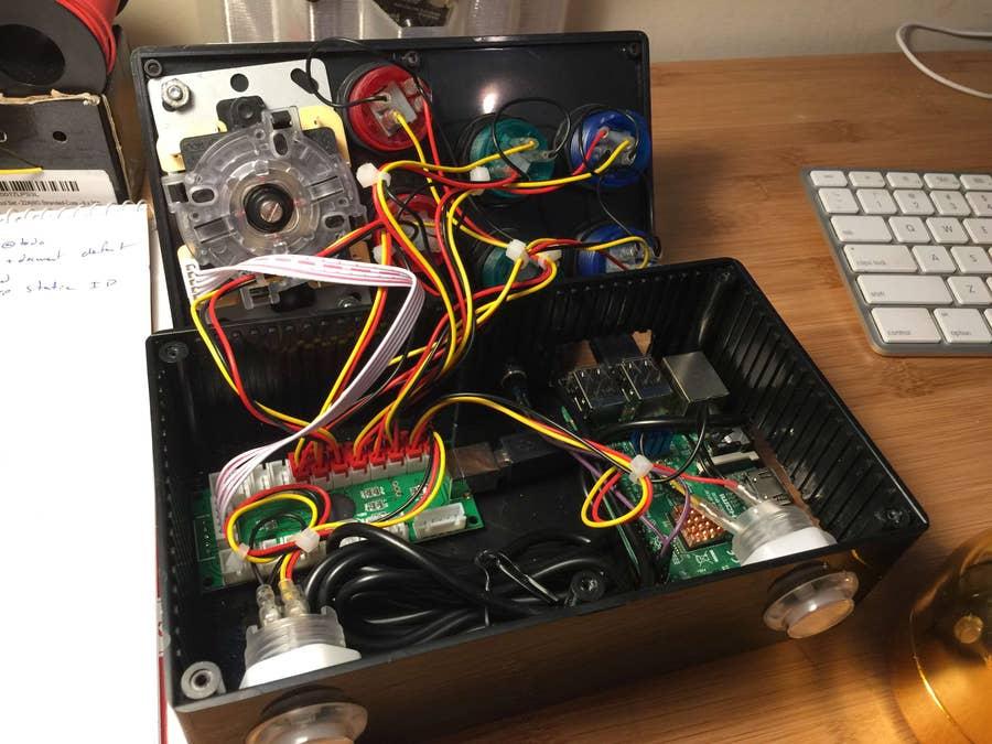The completed Retrobox inner hardware