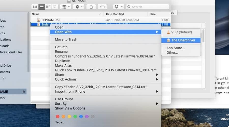 Open a .rar file in MacOS