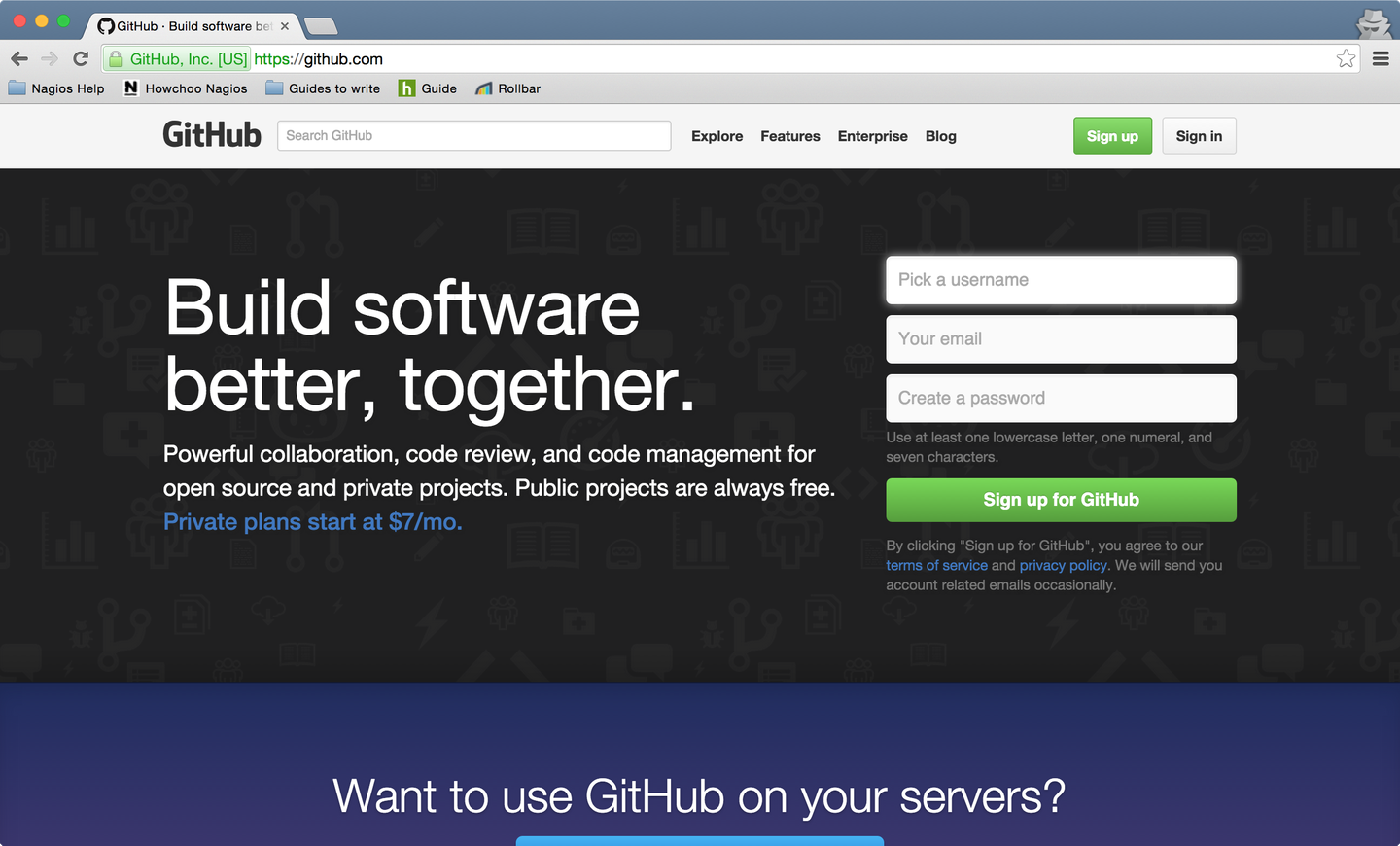 Sign up for a GitHub account