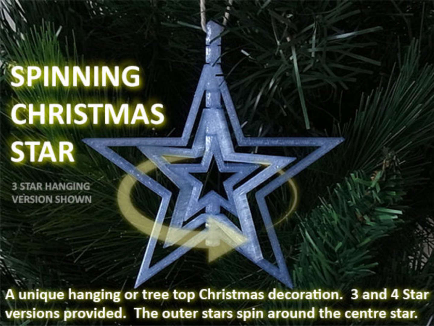 Spinning Star Ornament
