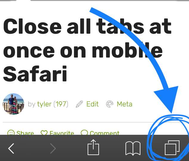 Hold down the tabs icon in the bottom right corner of Safari