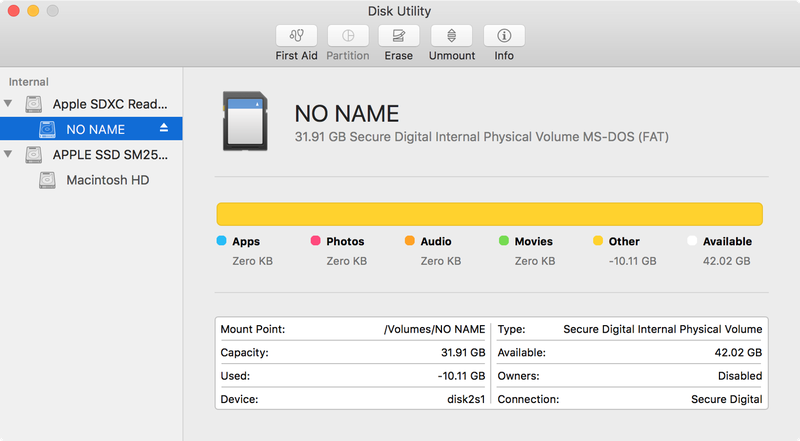 Open Disk Utility and find your SD card