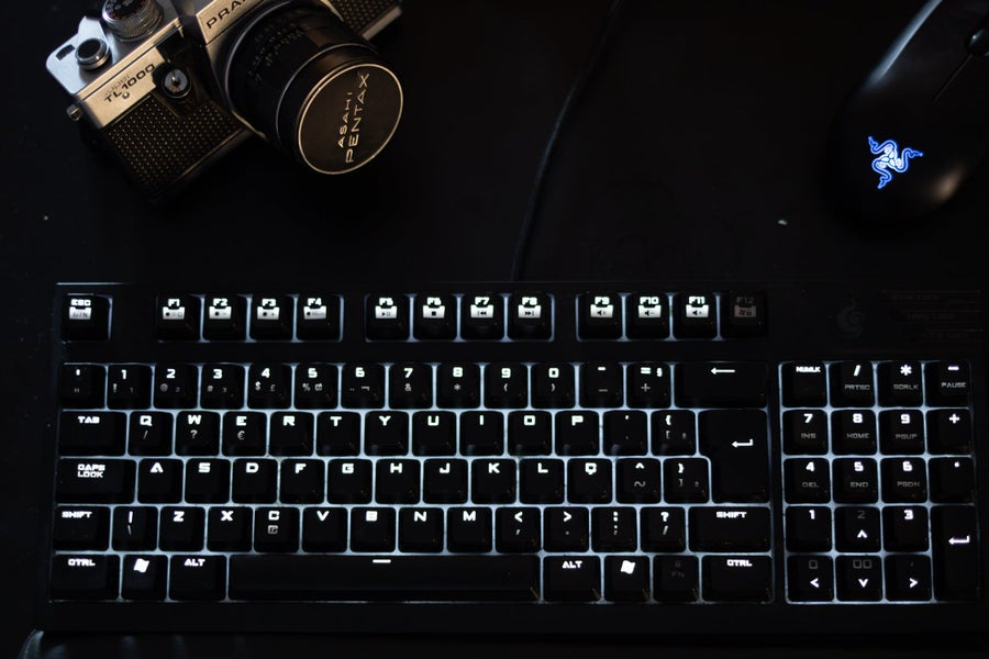 Full-sized keyboard