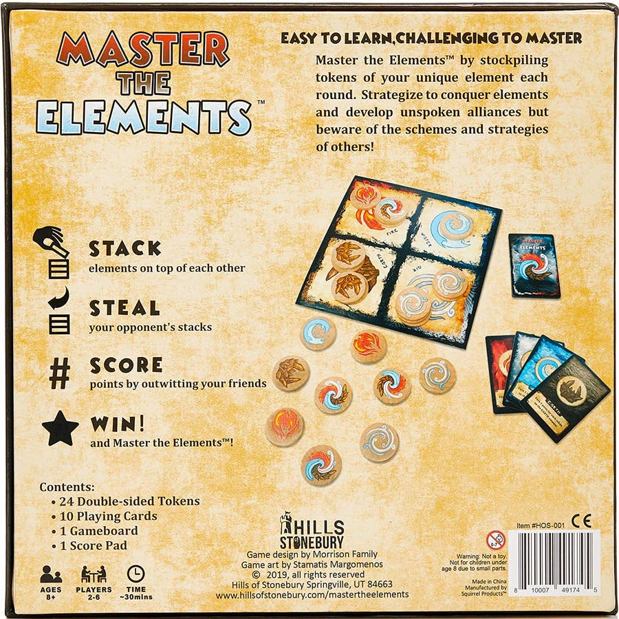 Master The Elements (Unofficial Avatar: The Last Airbender Board Game)