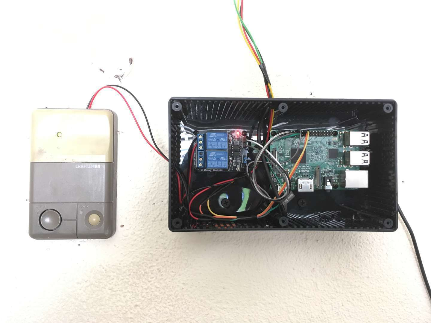 Raspberry Pi garage door opener