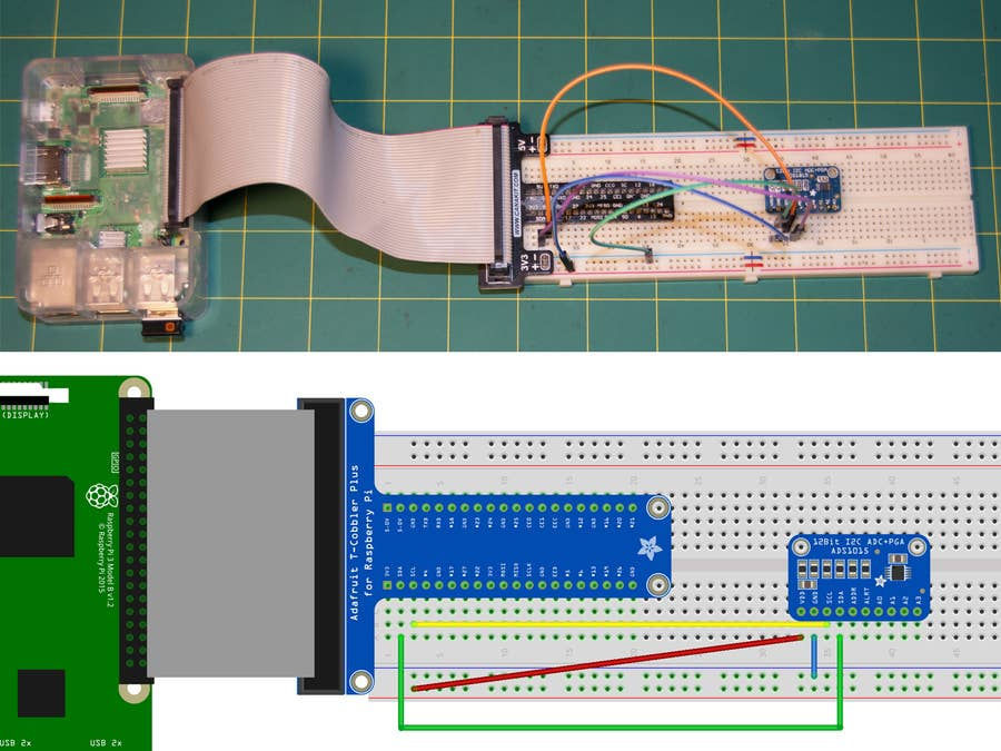 Wire the ADC chip to the Pi