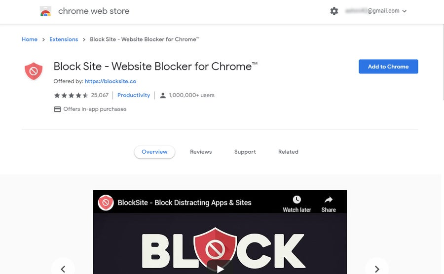 Chrome blocking extension