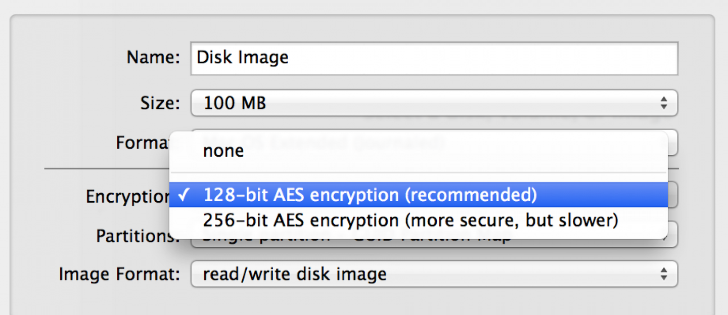 Add encryption to this disk image