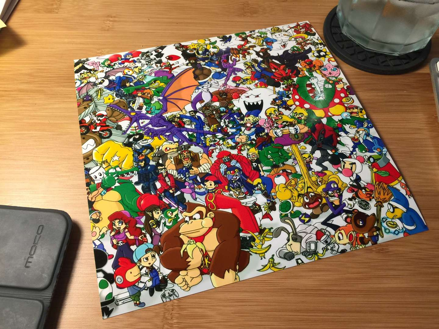 DIY arcade stick artwork