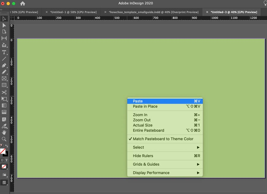 Paste Image into InDesign