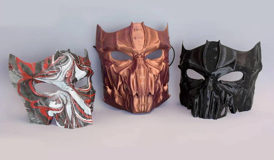 3D Printed Dark Masks Halloween