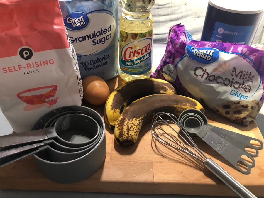Banana muffin ingredients