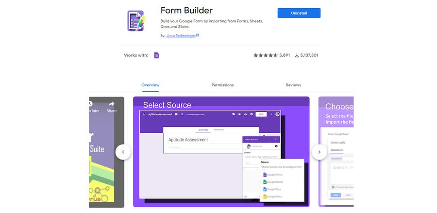 form builder addon google forms