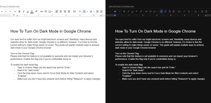 google chrome flags dark mode