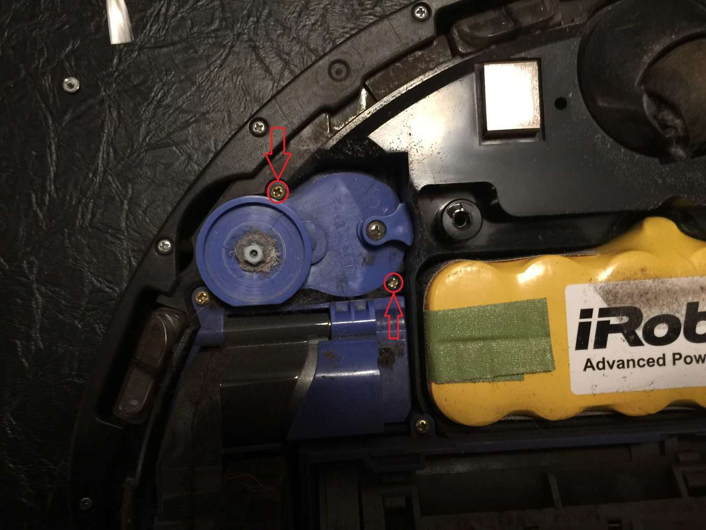 Roomba brush motor removal