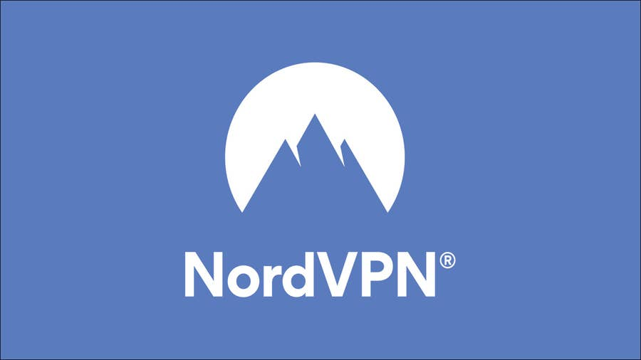 NordVPN Logo on Blue