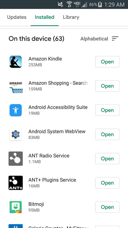 Uninstall app from Google Play