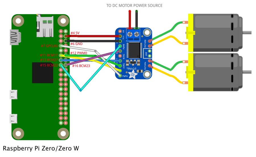 raspberry pi dc motor wiring diagram