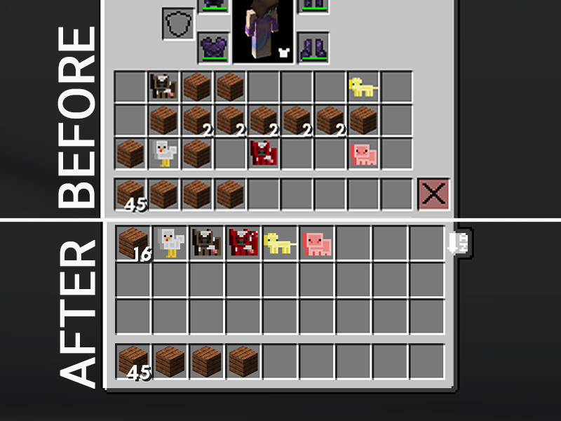 minecraft fabric mods inventory sorting