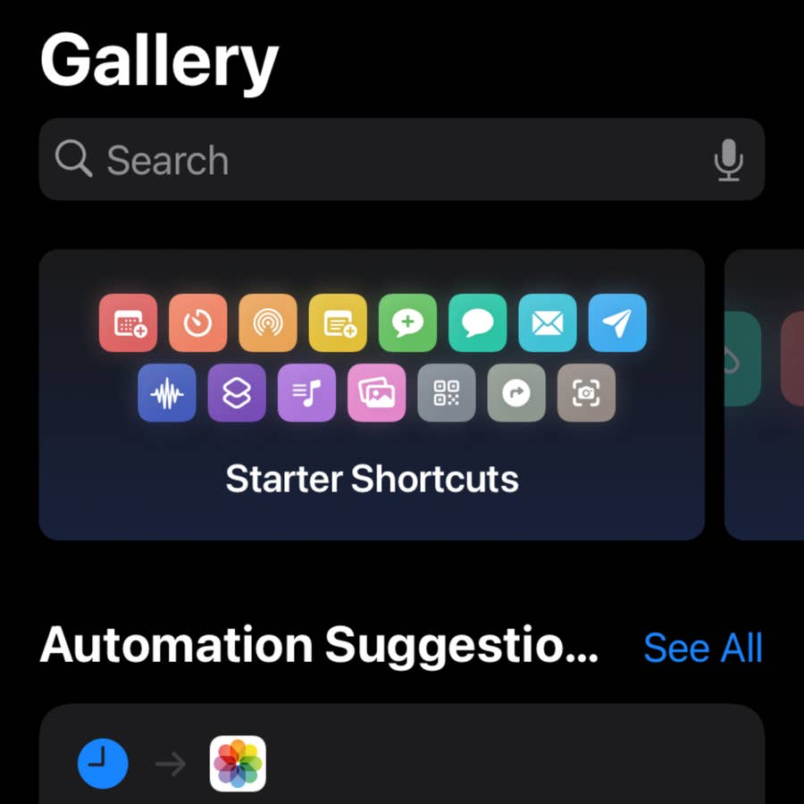 Set up a Starter Shortcut