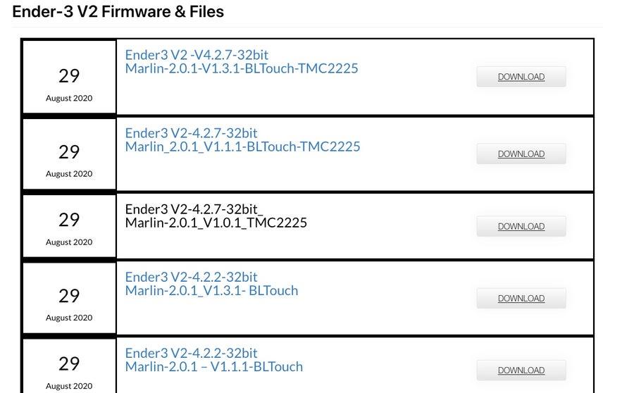 Creality Ender 3 V2 Firmware